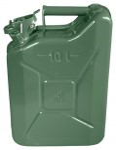 Benzinkanister Stahlblech grün