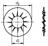 Fächerscheibe DIN 6798 verzinkt Form J