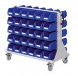 Rollwagen RasterMobil® 63 doppelseitig, 60 Lagerkästen