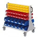 Rollwagen RasterMobil® 64 doppelseitig, 104 Lagerkästen