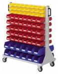 Rollwagen RasterMobil® 71 doppelseitig, 152 Lagerkästen