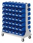 Rollwagen RasterMobil® 71 doppelseitig, 84 Lagerkästen
