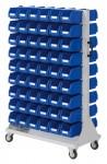 Rollwagen RasterMobil® 83 doppelseitig, 108 Lagerkästen