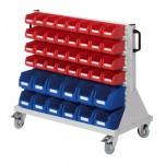 Rollwagen RasterMobil® 61 einseitig, 44 Lagerkästen