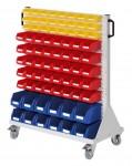 Rollwagen RasterMobil® E71 einseitig, 76 Lagerkästen