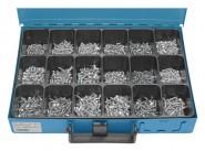 Blechschrauben-Sortimentskasten 1.600-tlg