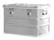 Alu-Leichtmetallbox, stapelbar, inkl. Tragegriffe