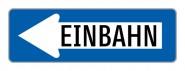 """Baustellenverkehrszeichen """"Einbahnstraße links"""" § 53/10"""