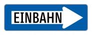 """Baustellenverkehrszeichen """"Einbahnstraße rechts"""" § 53/10"""