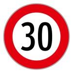 """Baustellenverkehrszeichen """"Geschwindigkeit"""" § 52/10a"""