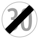 """Baustellenverkehrszeichen """"Geschwindigkeit"""" § 52/10b"""