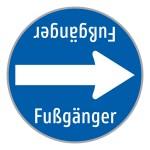 """Baustellenverkehrszeichen """"Fußgänger"""" § 52/15d"""