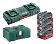 Akkupack-Basis-Set METABO LiHD, 4 Akkus, 8 Ah