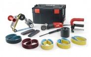 Satiniermaschine und Rohrbandschleifer FLEX BSE 14-3 INOX Set