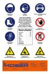 Sicherheitstafel MOSER für Baustelle