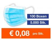 Mediziner Mund- und Nasenschutz 5.000 Stück