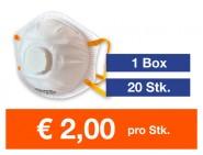 Atemschutzmaske FFP2 NR mit Ventil 20 Stk.