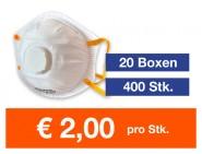 Atemschutzmaske FFP2 NR mit Ventil 400 Stk.