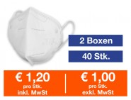 Atemschutzmaske FFP2 NR 40 Stk.