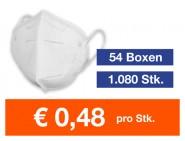Atemschutzmaske FFP2 NR 1.080 Stk.