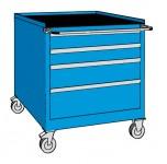 Schubladenschrank, fahrbar, 4 Laden, 564 x 572 x 800 (h) mm