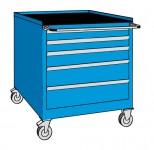 Schubladenschrank, fahrbar, 5 Laden, 564 x 572 x 815 (h) mm