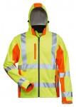 Warnschutz-Softshelljacke ELYSEE, wind- und wasserdicht, gelb