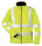Warnschutz-Softshelljacke ELYSEE, orange, wind- und wasserdicht