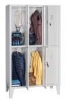 Kleiderspind mit Metallfüßen, Stahlblech, 6 Abteile