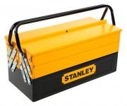 Werkzeugkasten STANLEY, Metall, 5 Abteile, inkl. Vorhangschloss