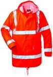 PU-Stretch-Regenbekleidungs-Set in Warnschutz-Optik orange
