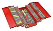 Werkzeugkiste MOSER 5 Fächer, befüllt, 84-tlg, rot