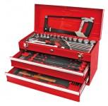 Werkzeugkasten MOSER 2 Laden, befüllt, 97-tlg, rot