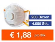Atemschutzmaske FFP2 NR mit Ventil 4.000 Stk.