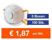 Atemschutzmaske FFP2 NR mit Ventil 100 Stk.