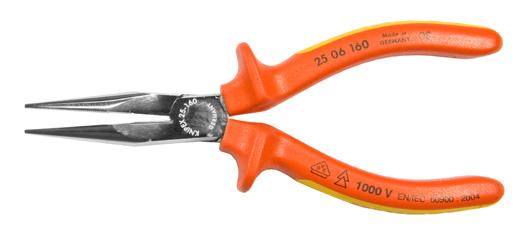 VDE-Flachrundzange KNIPEX mit Schneide, 160mm