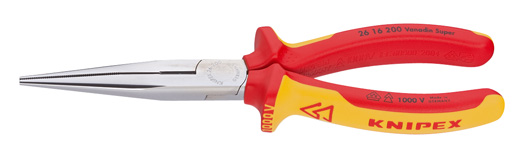 VDE-Flachrundzange KNIPEX mit Schneide, 200mm