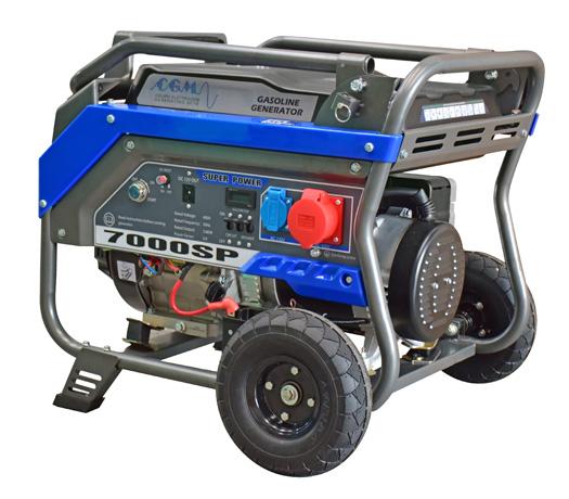 Stromerzeuger CGM, Benzin, 7 kVA, Ausgang 230 / 400 Volt