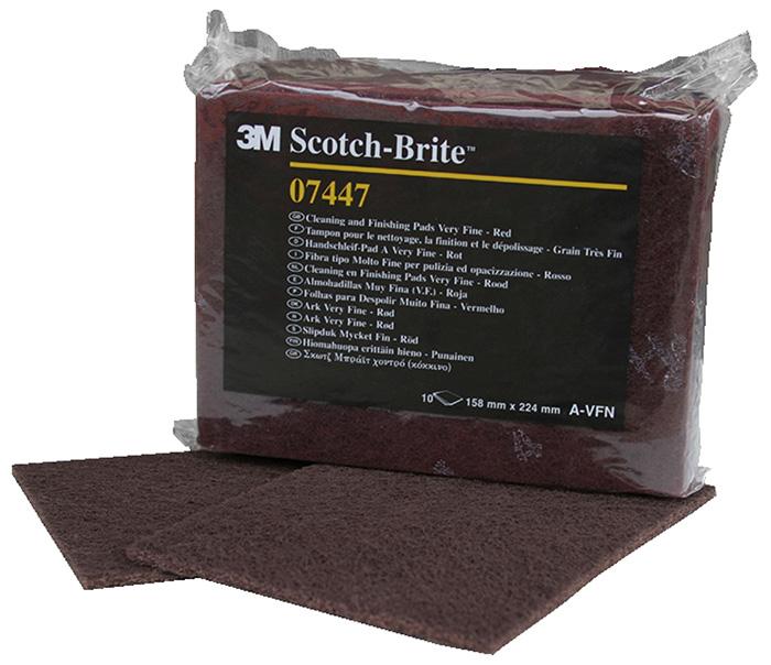 Handschleifpad 3M Scotch-Brite reißfest Inox